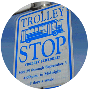 trolley sign