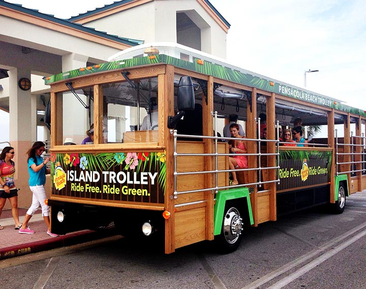 16 May Take A Free Ride On The Pensacola Beach Trolley